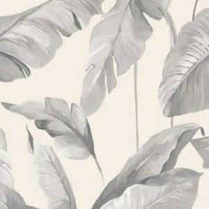 Grijs behang blad