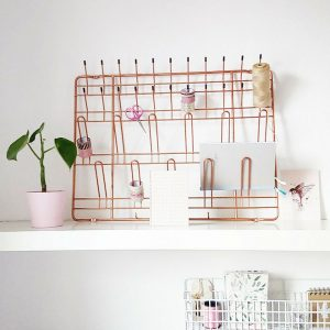 Retro rek stow & hang rack koper
