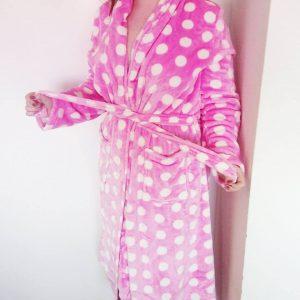 Badrock Pink Dottie Badjas kopen