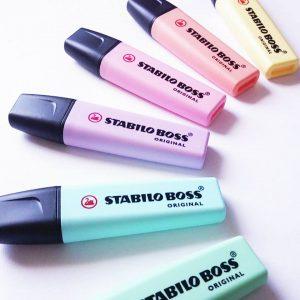 Stabilo pastel markeerstiften markers