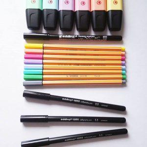WINACTIE Stabilo pastel handlettering bullet-journaling schrijfwaren