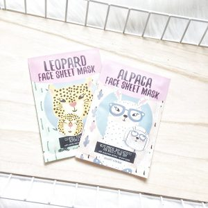 Leopard Face Sheet Mask Action