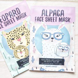 Leopard Face Sheet Mask Action