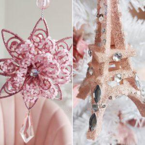 Roze kerst shoplog