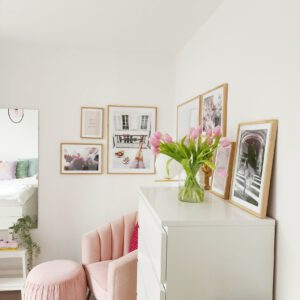 Velvet Roze Poef Richmond Interiors Pouffe Faye
