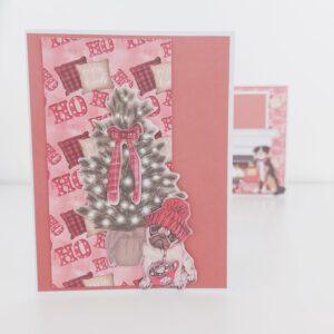 Kerstkaarten maken met Action DecoTime Crafts papierblokken